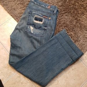 Distressed 7 for all man kind  size 29